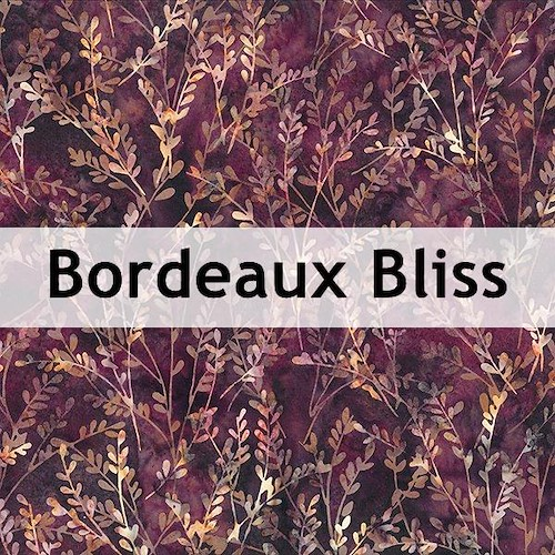 Bordeaux Bliss Batik