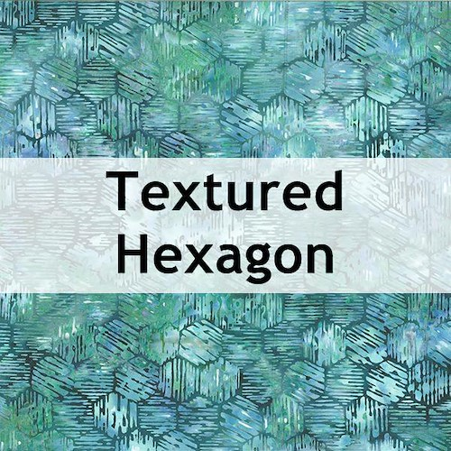 Textured Hexagon Batik