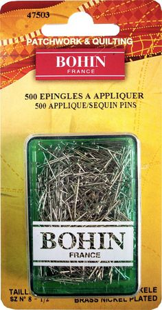 Applique Pins Nickel - 14mm x 0.60mm