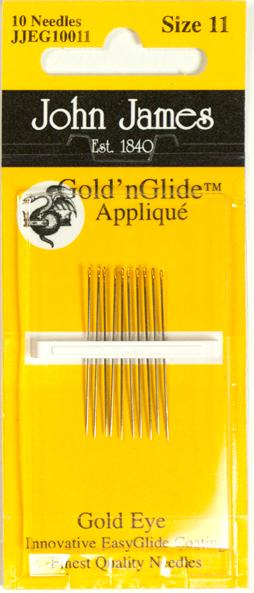 Gold'n Glide Applique Needles - Size 11