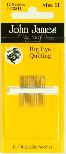Big Eye Quilting Needles - Size 11