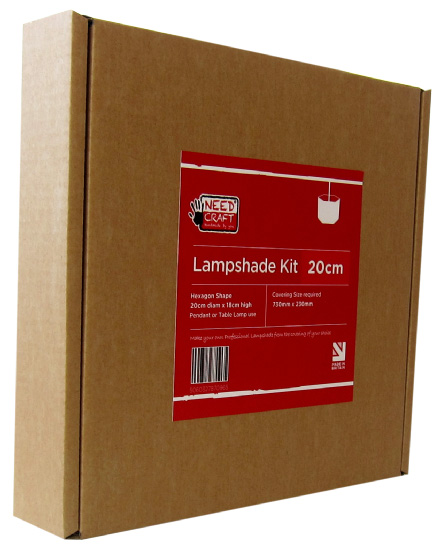 Hexagon Lampshade Making Kit 20cm