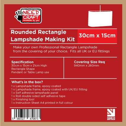 Rounded Rectangle Lampshade Making Kit 15cm x 30cm
