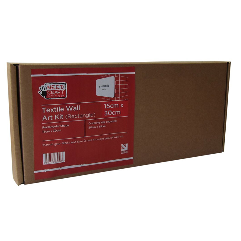 Textile Wall Art Kit Rectangle 15cm x 30cm
