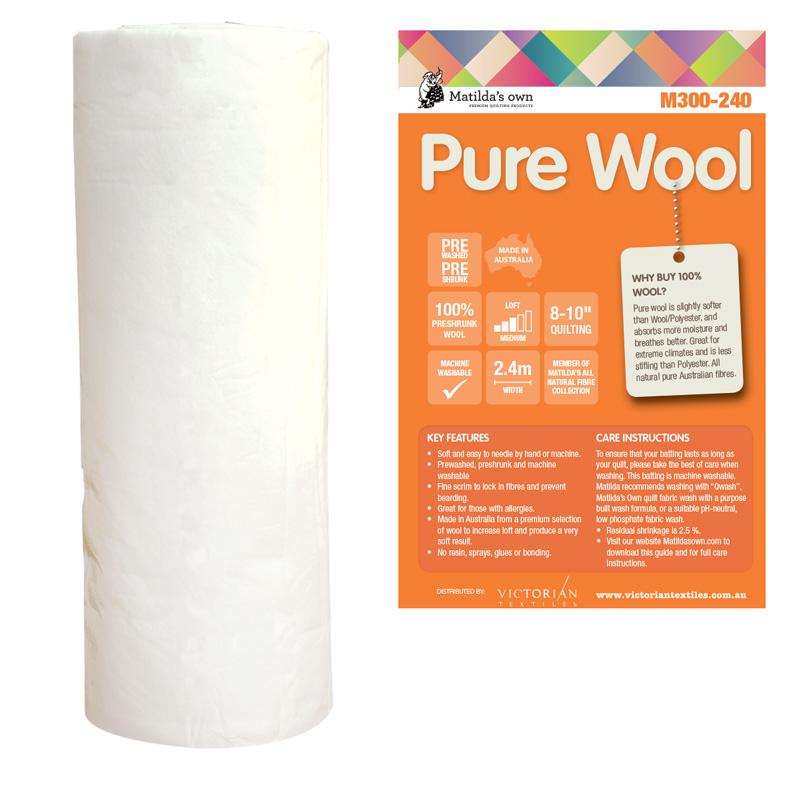 100% Wool 2.4m x 30m Roll