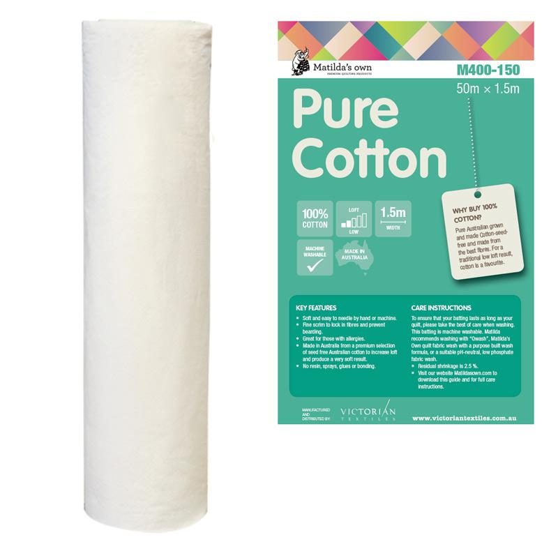 100% Cotton 1.5m x 50m Roll