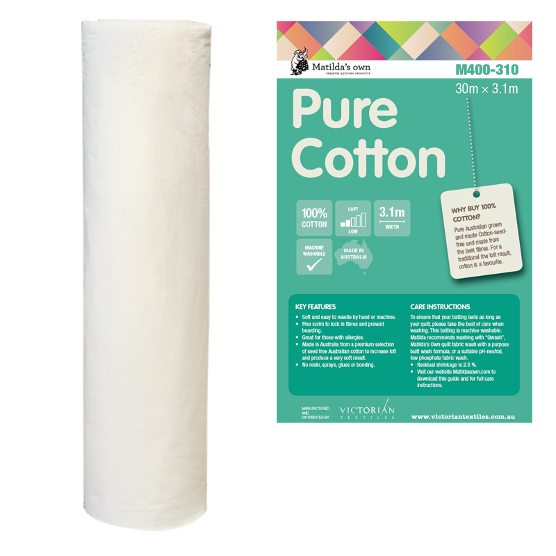 Cotton 100% 3.1m x 30m Roll