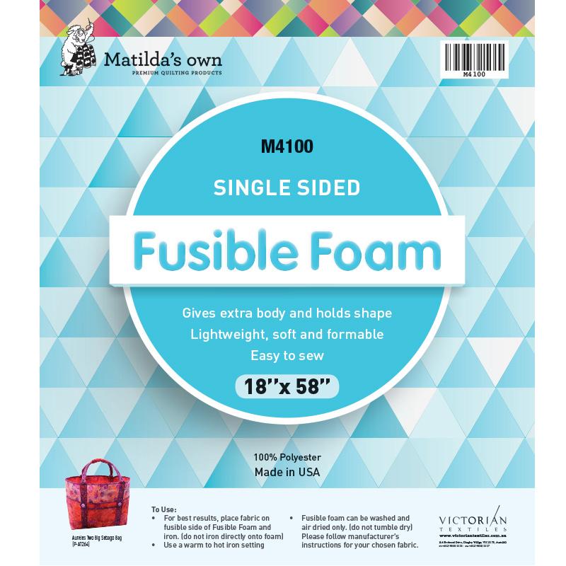 Single Sided Fusible Foam 18in x 58in