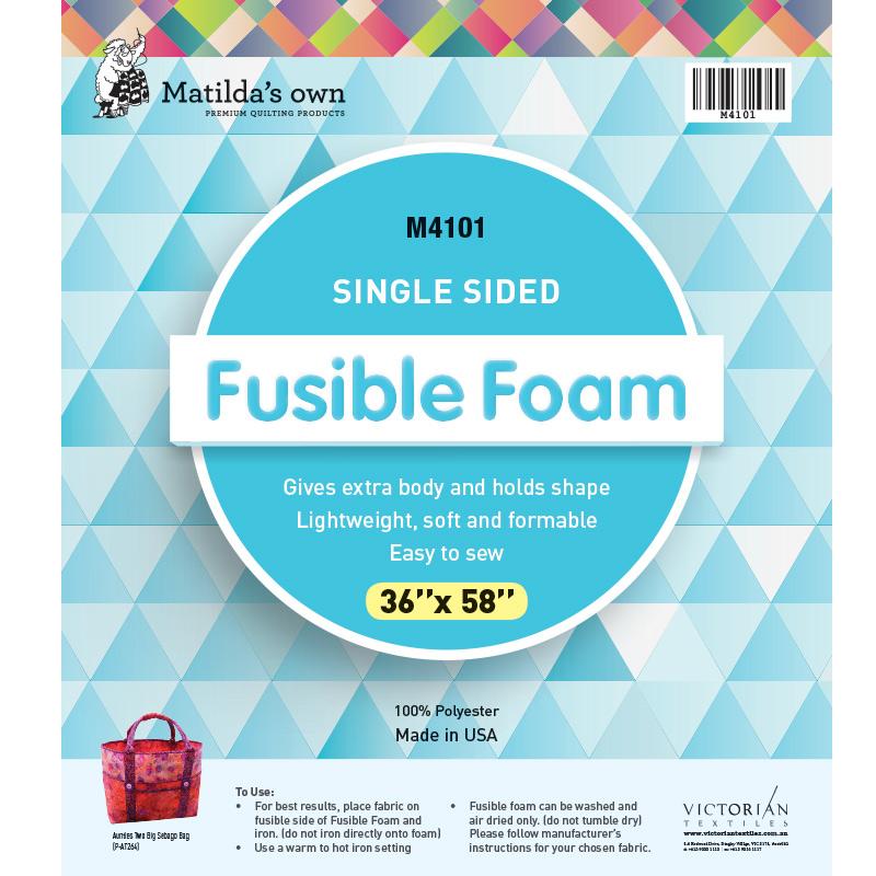 Single Sided Fusible Foam 36in x 58in