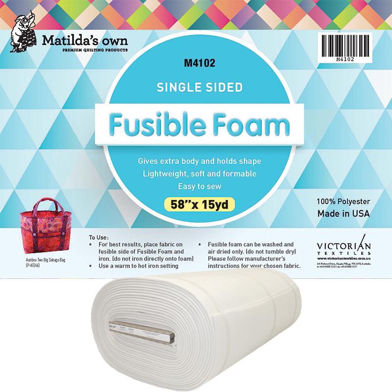Single Sided Fusible Foam 58in x 15yds