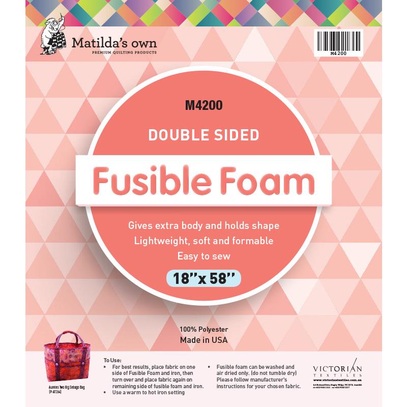 Double Sided Fusible Foam 18in x 58in