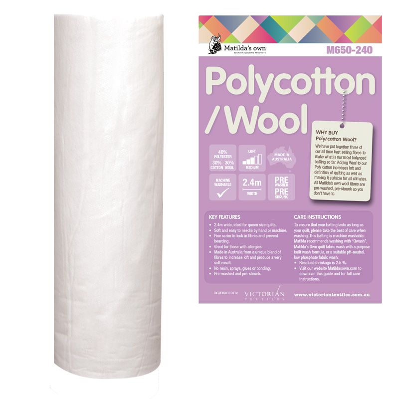 Poly 40/Cotton 30/Wool 30 2.4m x 30m Roll