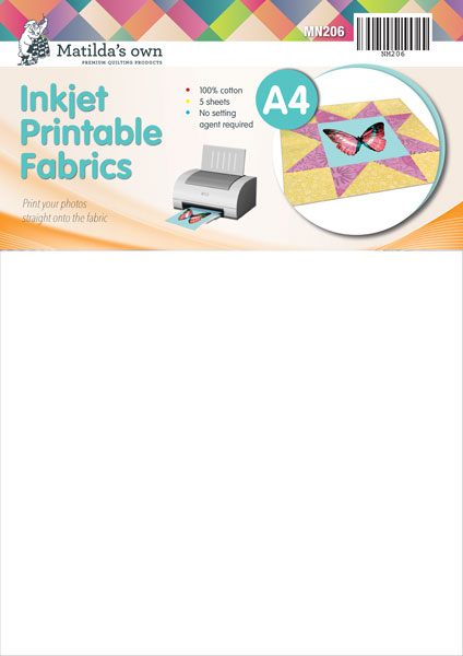 picture relating to Ink Jet Printable Fabric identified as A4 Inkjet Printable Cloth (5 Sheets)
