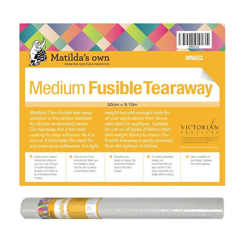 Fusible Tear Away Medium - 50cm x 9.1m Roll