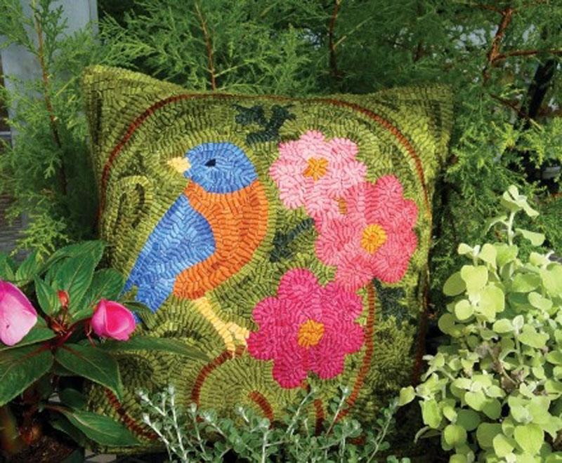 Bluebird Morning Pillow