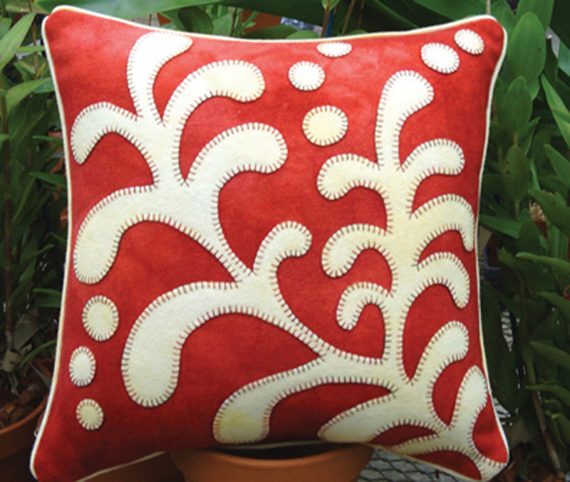 Opposites Attract Fern Pillow
