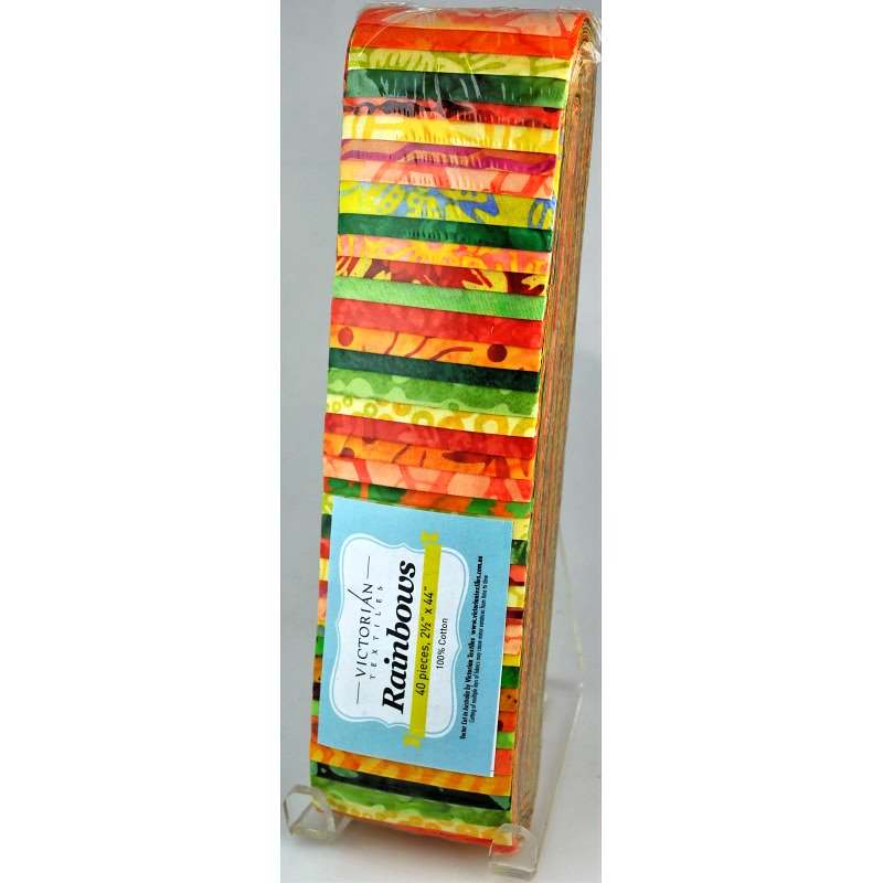 Rainbow Precut 2.5 inch #0062 Yellow/Orange/Lime