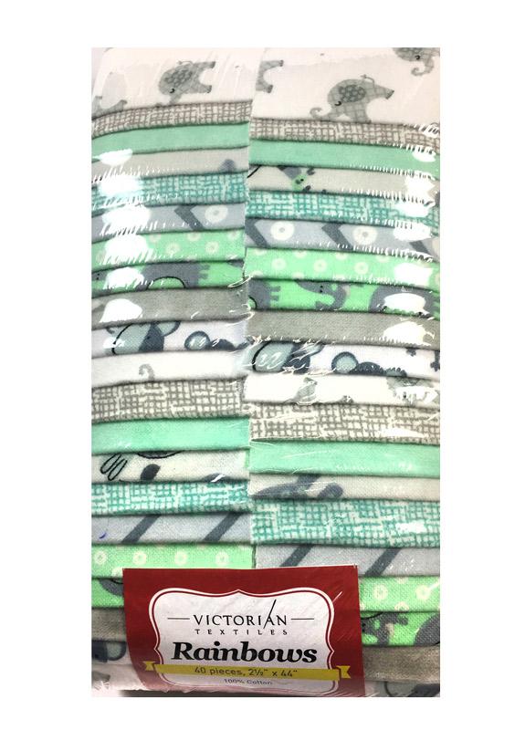 Rainbow Precut 2.5 inch #F0001 Flannel Tiny Tots