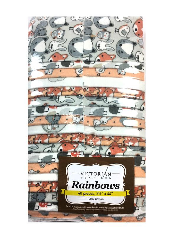 Rainbow Precut 2.5 inch #F0002 Flannel Friendly Faces