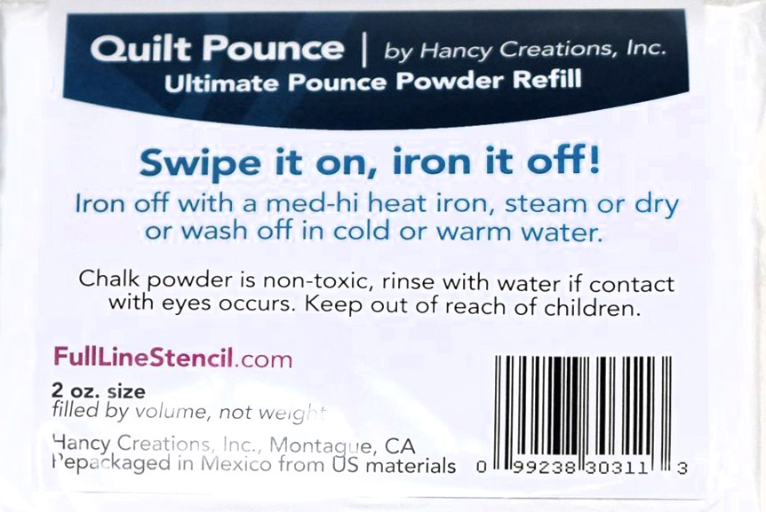 Pounce Refill Chalk Powder - White Chalk (Iron/Wash Off)