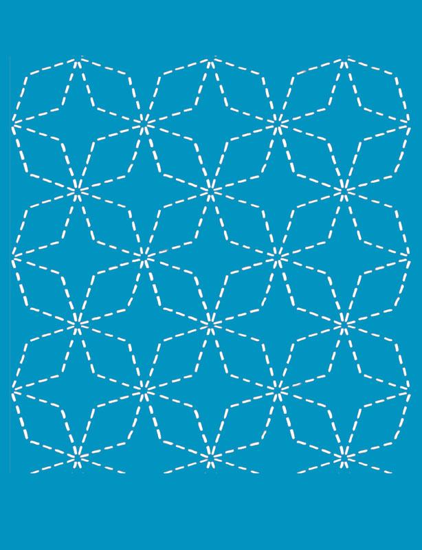 Sashiko Stitch Angles 7 Treasures