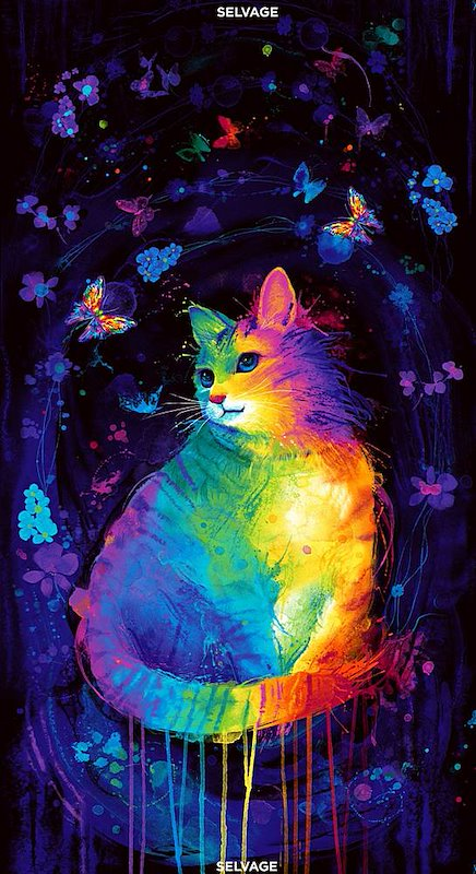 Multi - Mystical Cat Panel