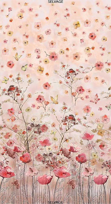 Pink - Beautiful Flower 24In Panel