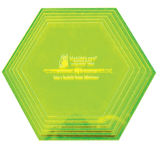 Large 60° Hexagon Set - 5.5in to 8.0in