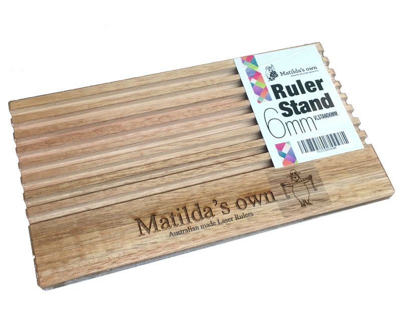 6mm Slotted Wooden Ruler Stand