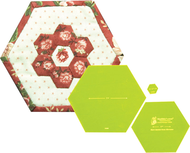 Framed Hexagon - 6in Finished