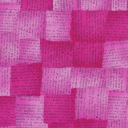 Newspaper Hot Pink - Quilters Basic Perfect