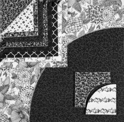 A104 Black & White Fabrics
