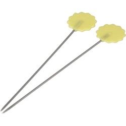 Flower Head Pins Yellow - 50mm x 0.65mm