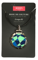 Pendant Quilting Pattern Blue/Green