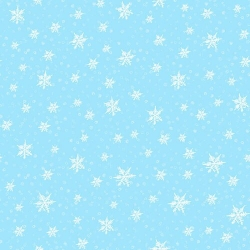 Light Blue - Snowflakes