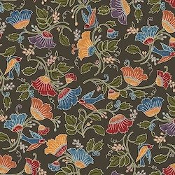 Cocoa - Large Floral With Bird