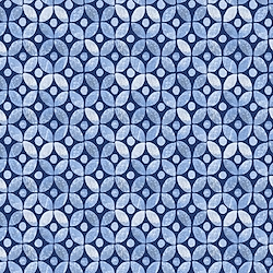 Medium Blue - Geometric