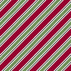 Diagonal Stripe - Holly Jolly Christmas
