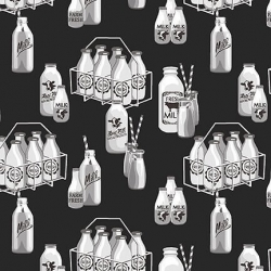 Black - Milk Bottles