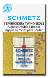 Twin Embroidery 2mm - 75/11