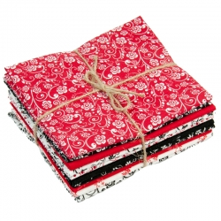 Red/Black/White Fat Quarters #48