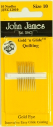 Gold'n Glide Quilting Needles - Size 10