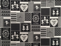 Black - Ballerina Patchwork