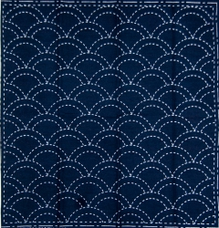 Sashiko Printed Cloth x 5 - Clam Shell
