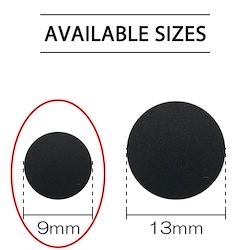 Black - Plastic Snap 9mm