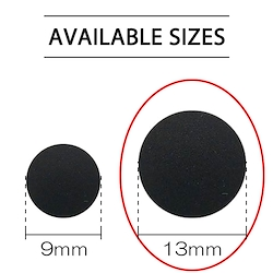 Black - Plastic Snap 13mm