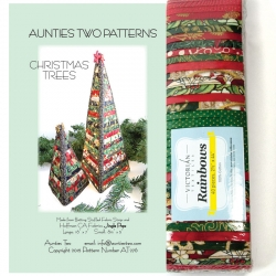 Aunties Two Christmas Trees Pattern + Fabric Kit