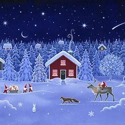 Double Edge Border - Tomten's Christmas