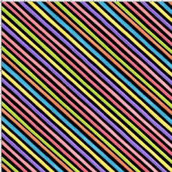Bias Stripe Black Fabric