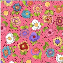 Big Blossoms Pink Fabric